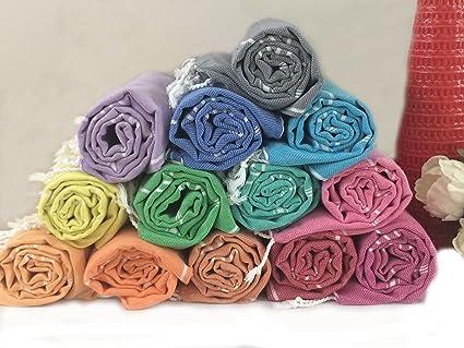 3d5132fe0761 Amazon.com  Turkish Peshtemal Towel Wholesale Package 50 pcs  Home ...