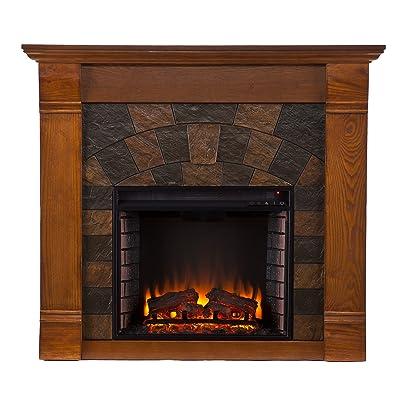 Elkmont Electric Fireplace - Salem Antique Oak