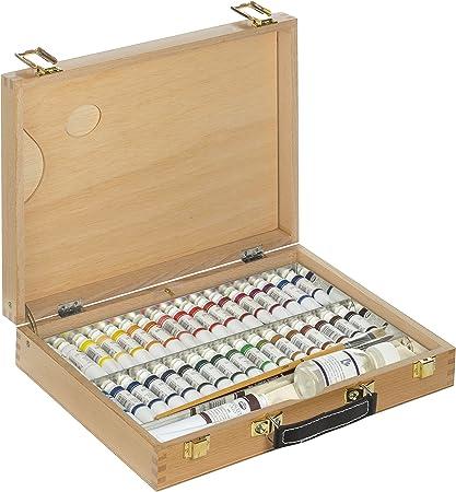 Lienzos Levante- Caja de Pinturas 4-S con Surtido de Óleo Españoleto 00, 37x28x7 cm (1310301410): Amazon.es: Juguetes y juegos