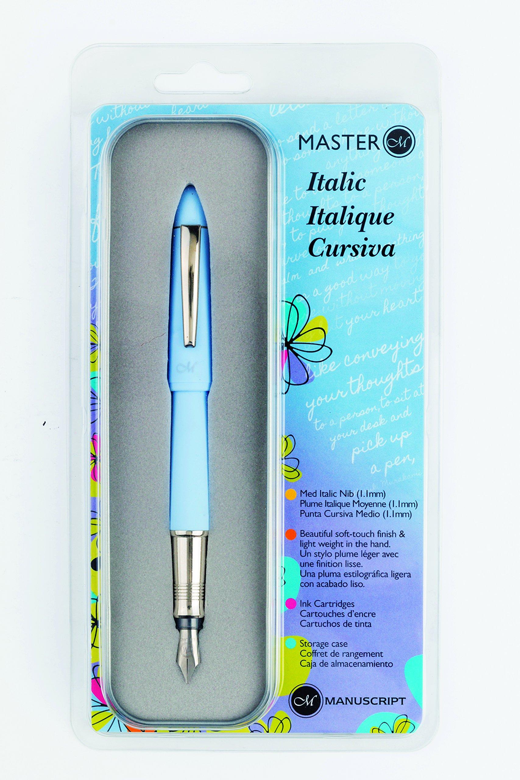 Manuscript MAN-MC5003 Master Italic Pen, Blue Barrel