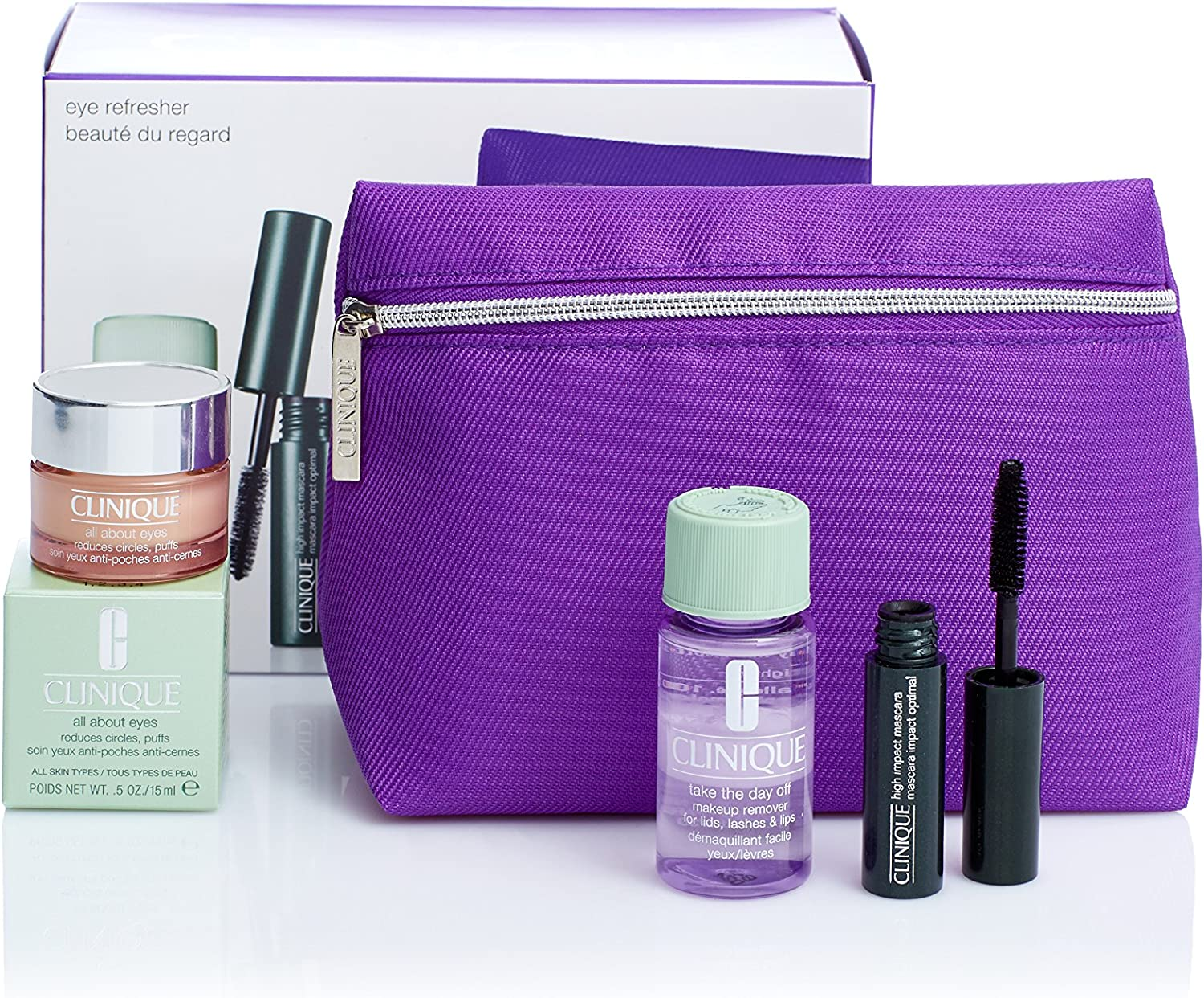 Clinique Pack All About Eyes Rich 15 ml + High Impact Mask Mini + Take The Day Off 30 ml: Amazon.es: Alimentación y bebidas
