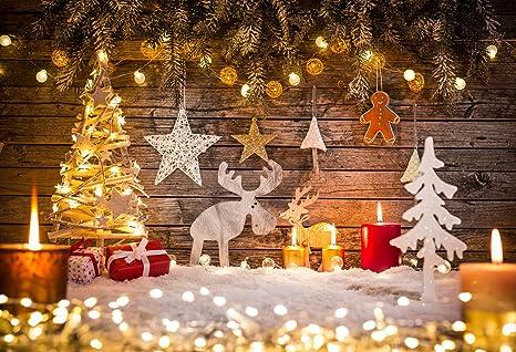 Immagini Di Natale Per Sfondo.Katehome Photostudios Fotografia Di Natale Sfondo 3x2m Retro Parete Di Legno Sfondo Glitter Light Per Studio Fotografico Fondali
