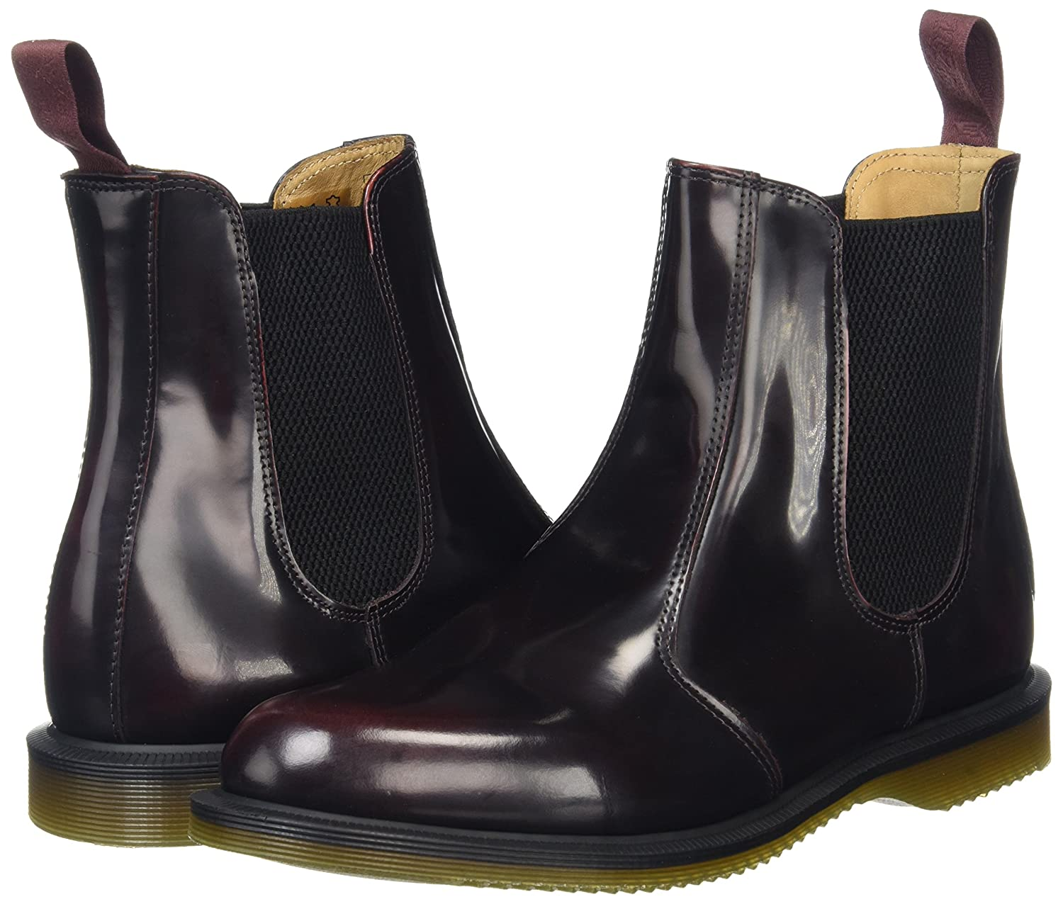 Dr. Martens Women's Flora Ankle Boot B0073ZXAGQ 6 UK/8 M US Cherry Red Arcadia
