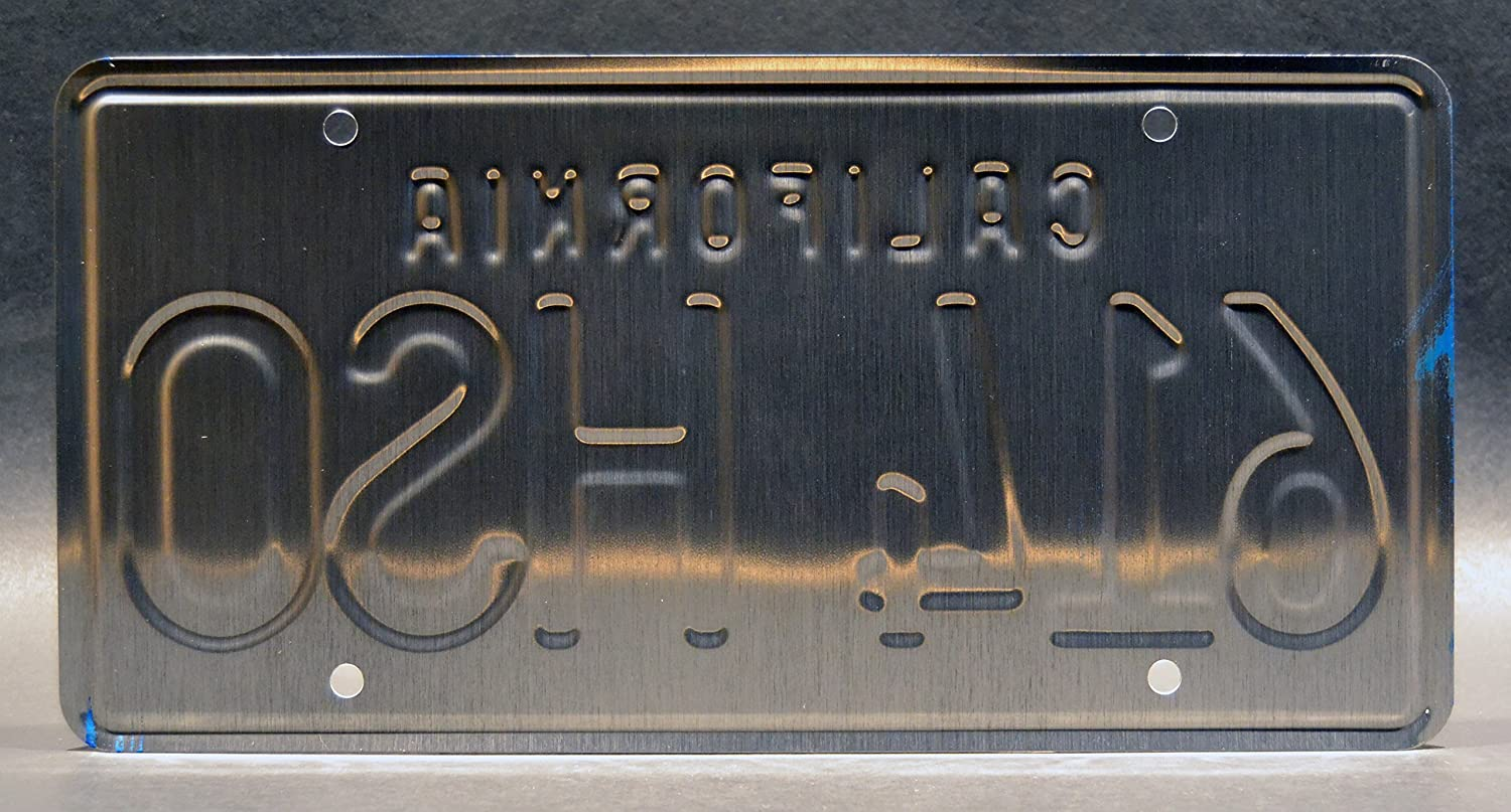 Metal Stamped Vanity Prop License Plate Celebrity Machines Gone in 60 Seconds 614 HSO /'73 Mustang Eleanor