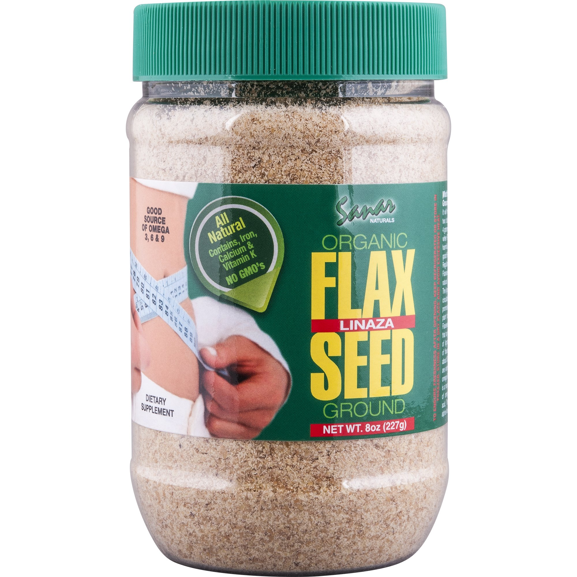 Sanar Naturals Organic Ground Flaxseed, 8 Ounce (3 Pack) - Semilla de Lino Molidas, Linaza, Great Source of Omega 3,6,9, Dietary Fibers, Lignans, and Protein