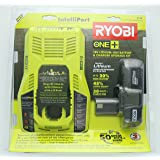 Ryobi P128 18-Volt Lithium-Ion Battery and IntelliPort Charger Kit