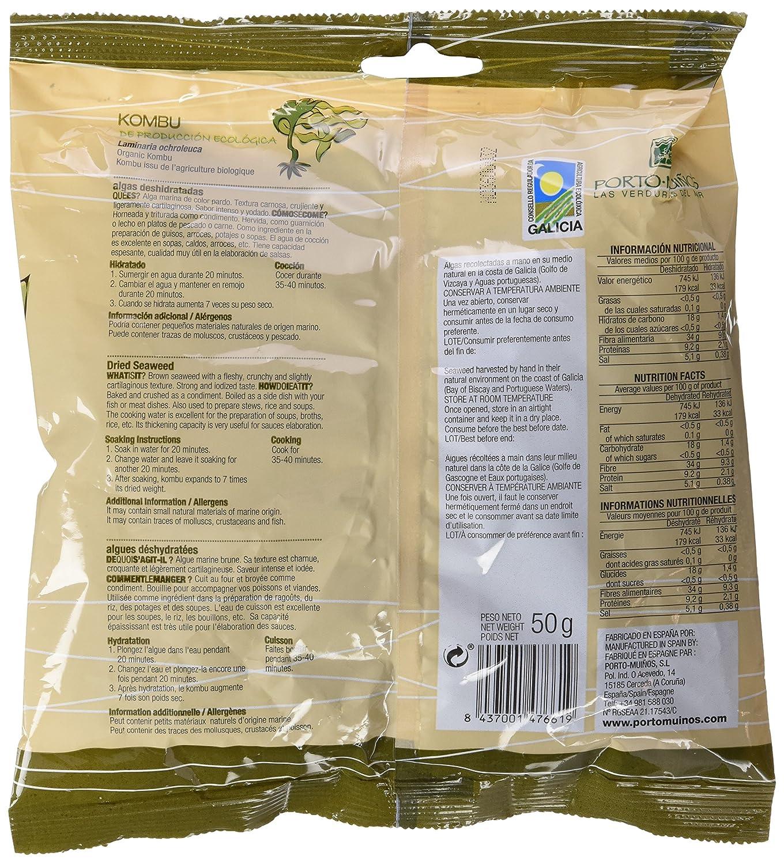 Porto Muiños Kombu Deshidratado - 50 gr: Amazon.es: Alimentación y bebidas