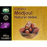 Medjoul Natural Dates (Jumbo) by Elworld Organic - 500 Grams