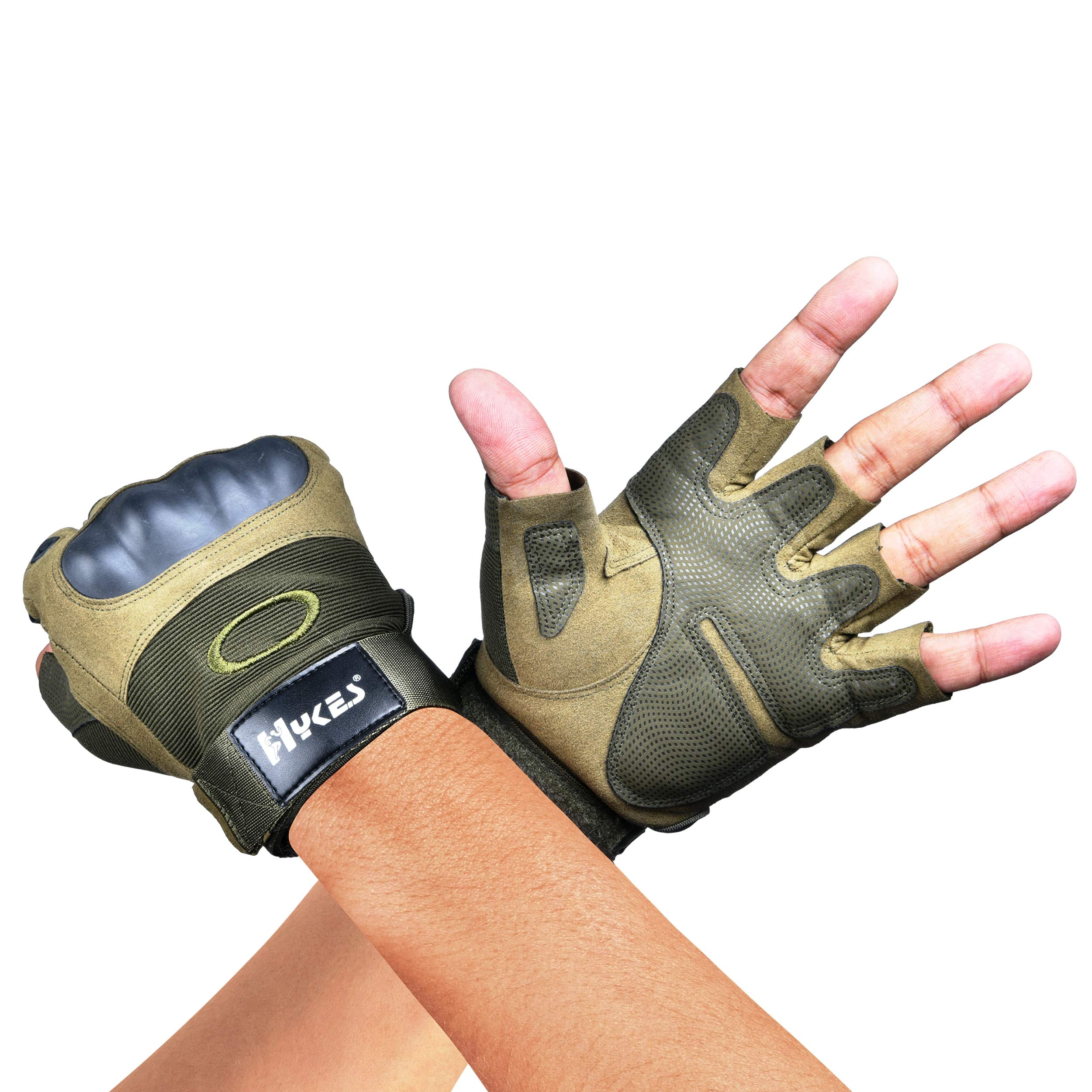 Hykes Tactical Gloves for Workout Bike Driving Cycling Motorcycle Military Safety Sports Hiking Climbing Outdoor Gym Fitness Hand Grip product image