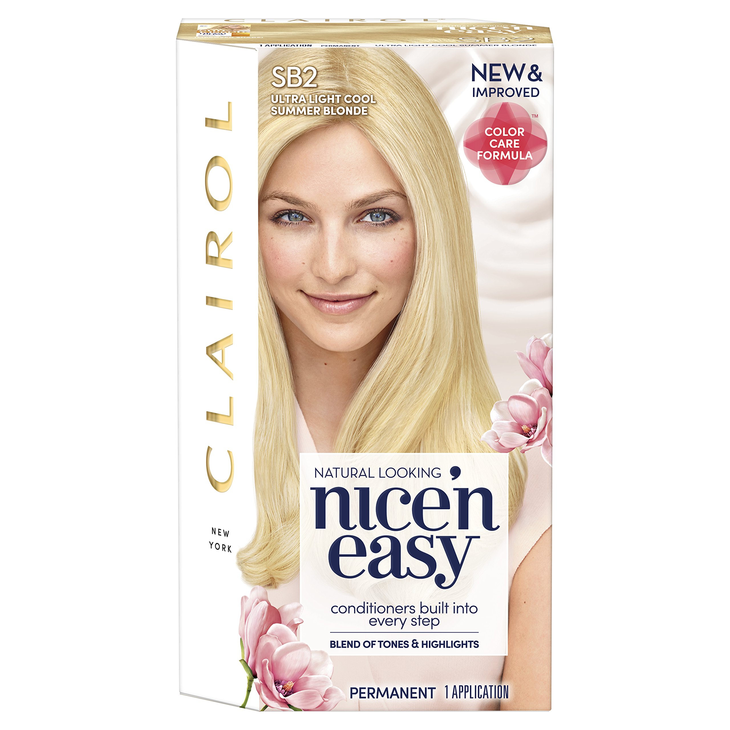 Clairol Nice'n Easy Permanent Hair Color, SB2 Ultra Light Cool Summer Blonde, Pack of 1