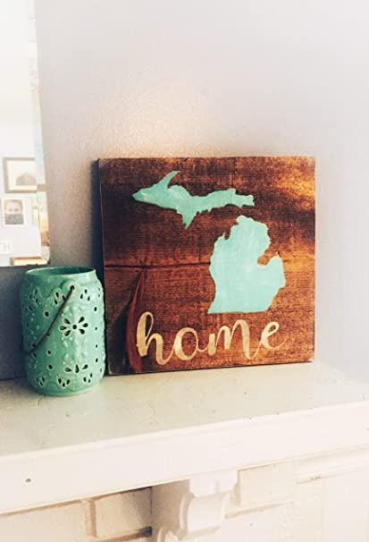 Amazon Wooden Sign Mitten State Home Decor Rustic