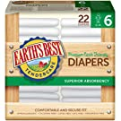 Earth's Best TenderCare Chlorine-Free Disposable Baby Diapers, Size 6 (35+ lbs), 22 Count (Pack of 4)