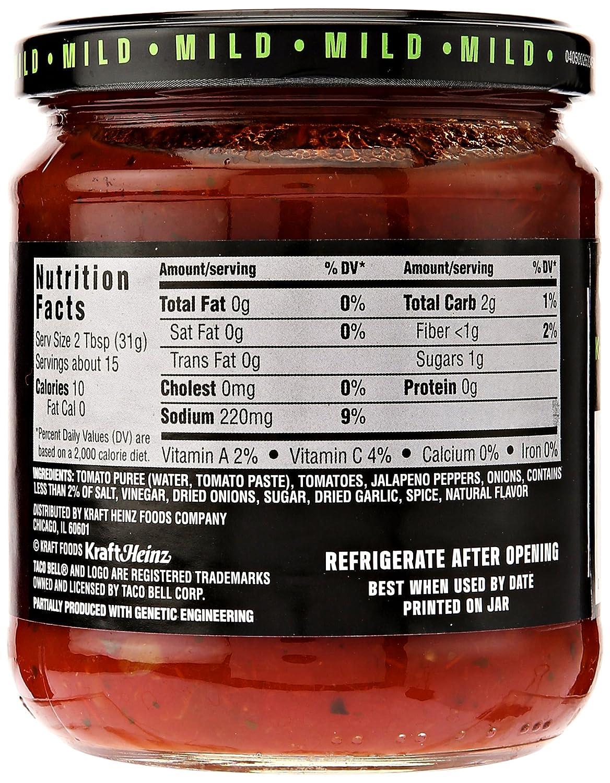 TACO BELL THICK N CHUNKY MILD SALSA 453g JAR: Amazon.es: Alimentación y bebidas