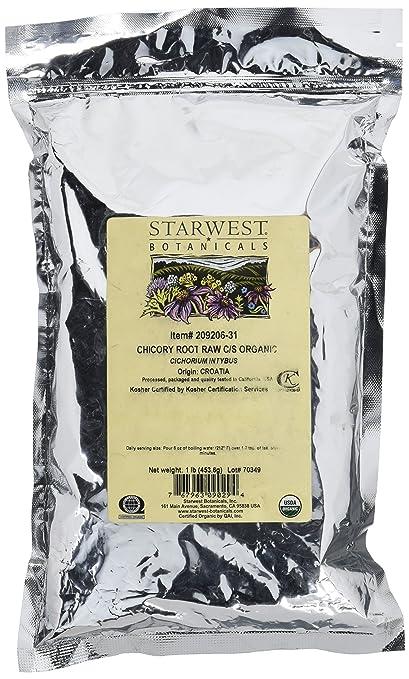 Chicory Root Raw C/S Organic Starwest Botanicals 1 lb