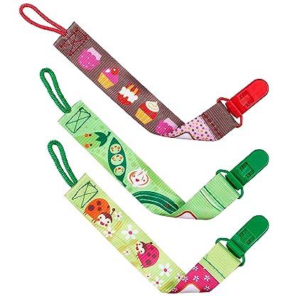 3 Pack cinta para chupete/cadena para chupete & # x2764; sin ...