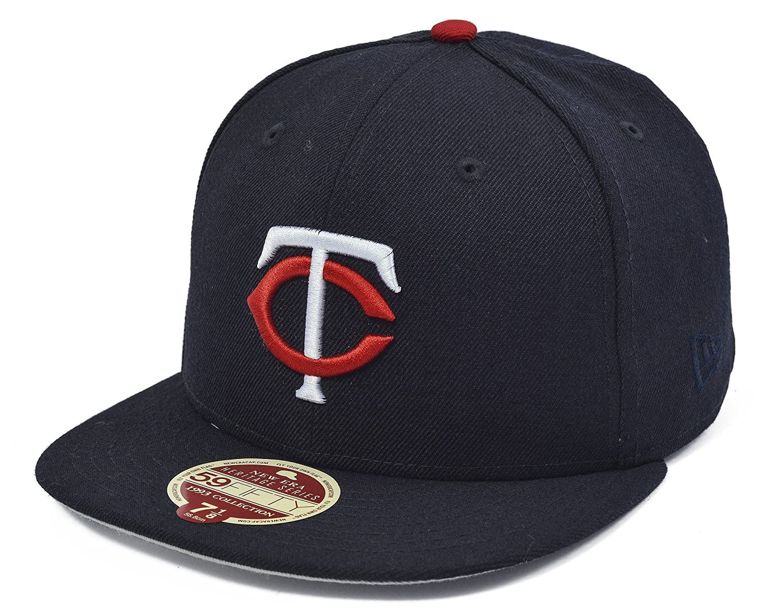 new york 3142c b6a32 Amazon.com   New Era Minnesota Twins 1993 Collection 59FIFTY Wool Classic  Fitted Cap Navy   Sports   Outdoors