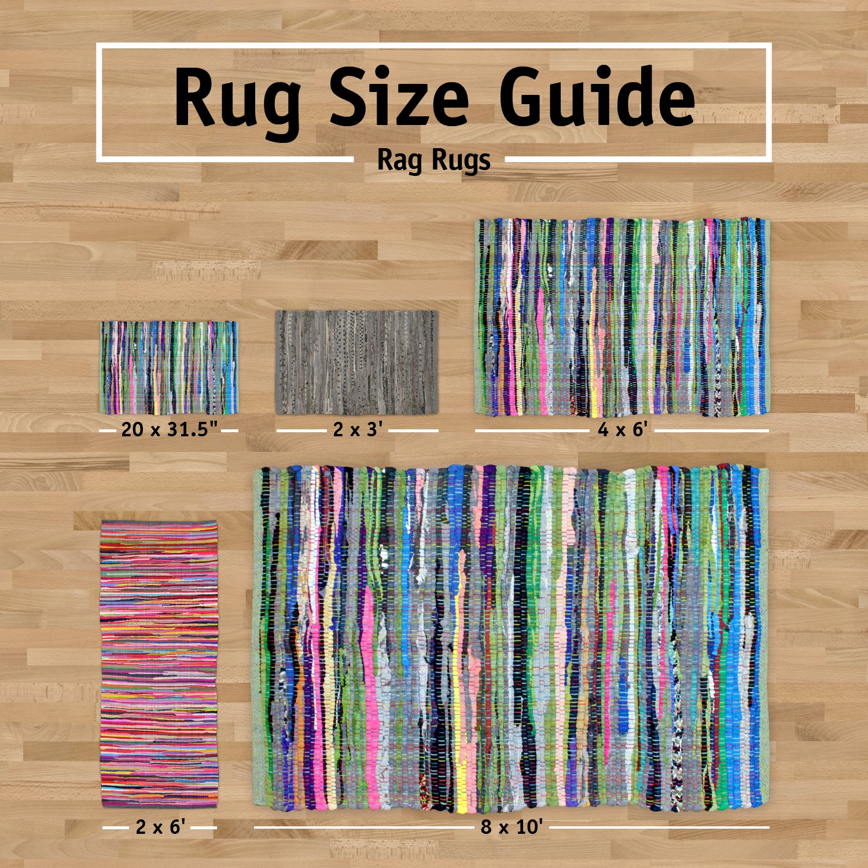 amazoncom dii reversible one of a kind area rug rag rug for bedroom living room kitchen 2 x 3u0027 denim home u0026 kitchen