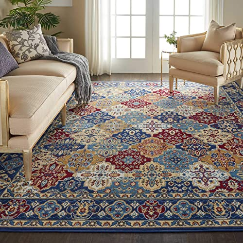 Nourison Grafix Multicolor Persian Area Rug 7'10″ x 9'10″