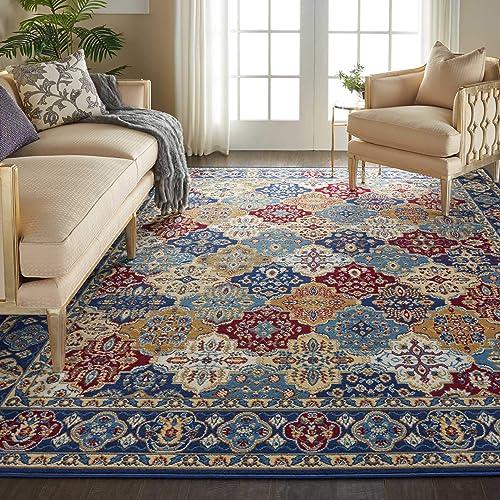 """Nourison Grafix Multicolor Persian Area Rug 7'10"""" x 9'10"""""""