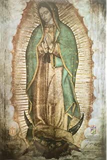 Amazoncom Virgen De Guadalupe Lienzo Real Gigante Our Lady Of