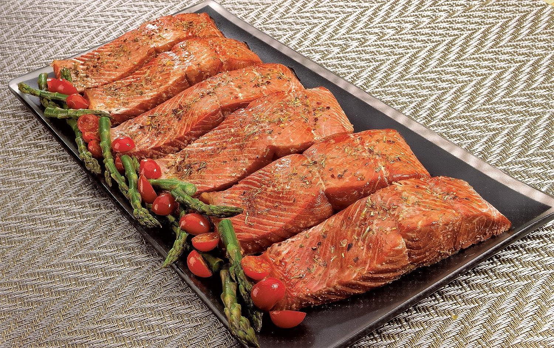Wild Alaskan Sockeye Salmon: 6 Oz Dinner Fillets (Six 6 oz dinner fillets)