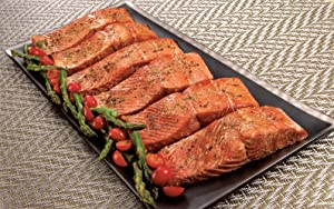Wild Alaskan Sockeye Salmon: 6 Oz Dinner Fillets (Six 6 oz dinner fillets)
