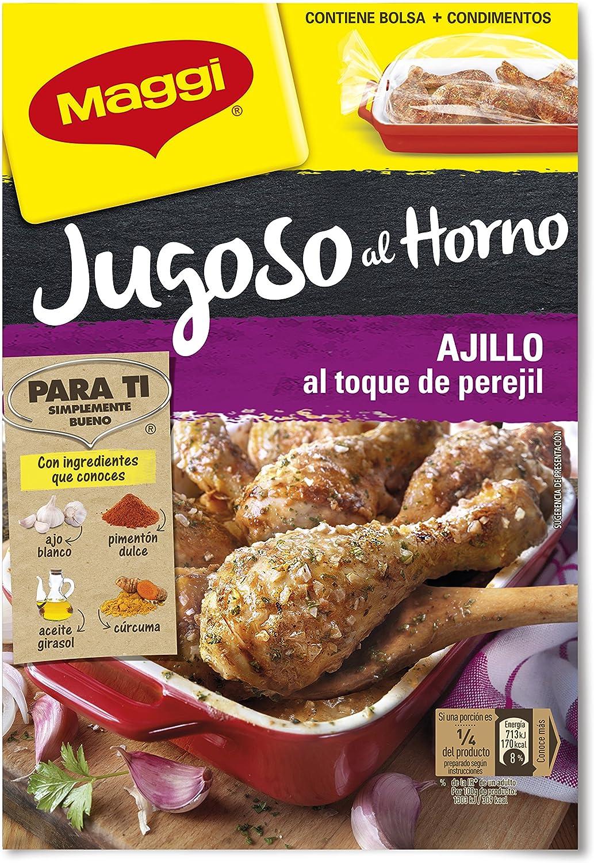 Maggi - Jugoso al Horno Pollo al Ajillo - Pack de 8 x 36 g