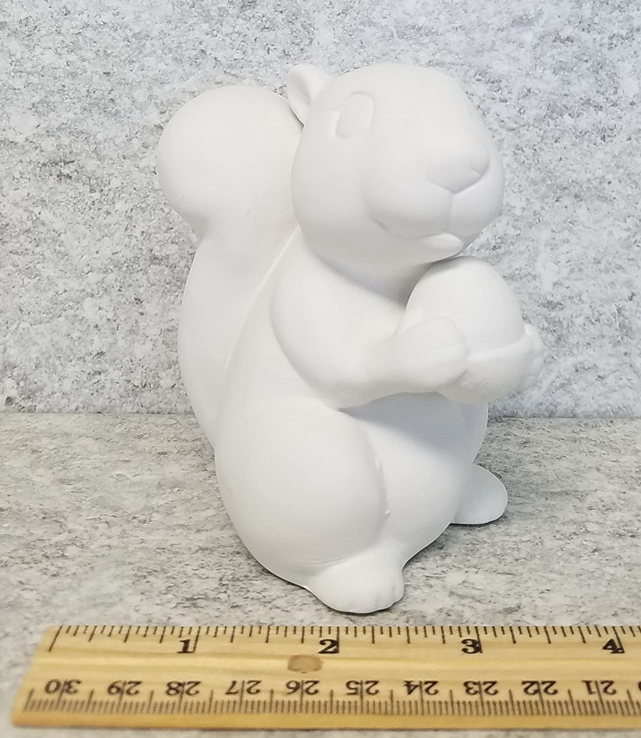 Bisque Squirrel Unpainted, ready for glaze
