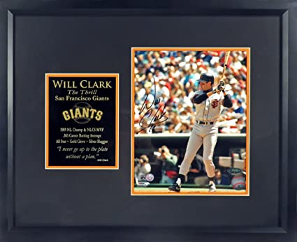 Will Clark Autographed  quot The Thrill quot  8x10 Photo Display Framed b1199f624
