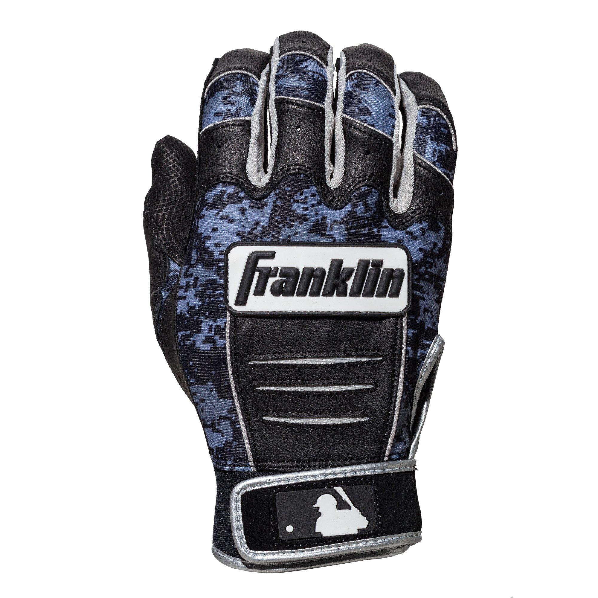 Franklin Sports CFX Pro Digi Series Batting Gloves Black/Black Camo Adult Small by Franklin Sports (Image #2)