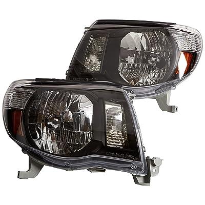 Depo 312-1186P-US2 Toyota Tacoma Headlight with Black Bezel, One Pair: Automotive