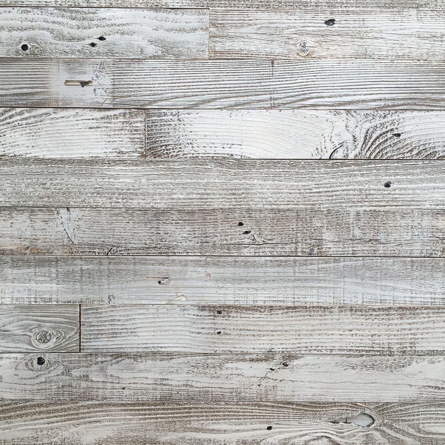 Epic Artifactory Reclaimed Barn Wood Wall Panel- Easy Peel and Stick Application (20 Sq Ft, Whitewashed Barn Wood)
