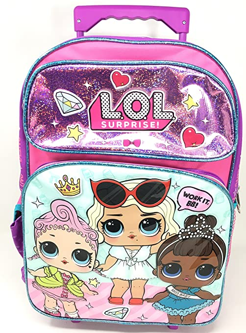 L.O.L Sorpresa! Miss Baby & Work It BB - Mochila enrollable de 40 cm