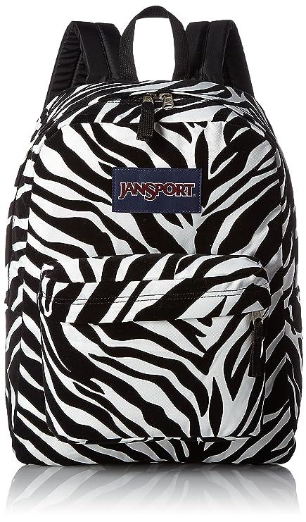 Amazon.com  JanSport High Stakes Backpack Black Miss Zebra Flock ... bbc26344c0b2c