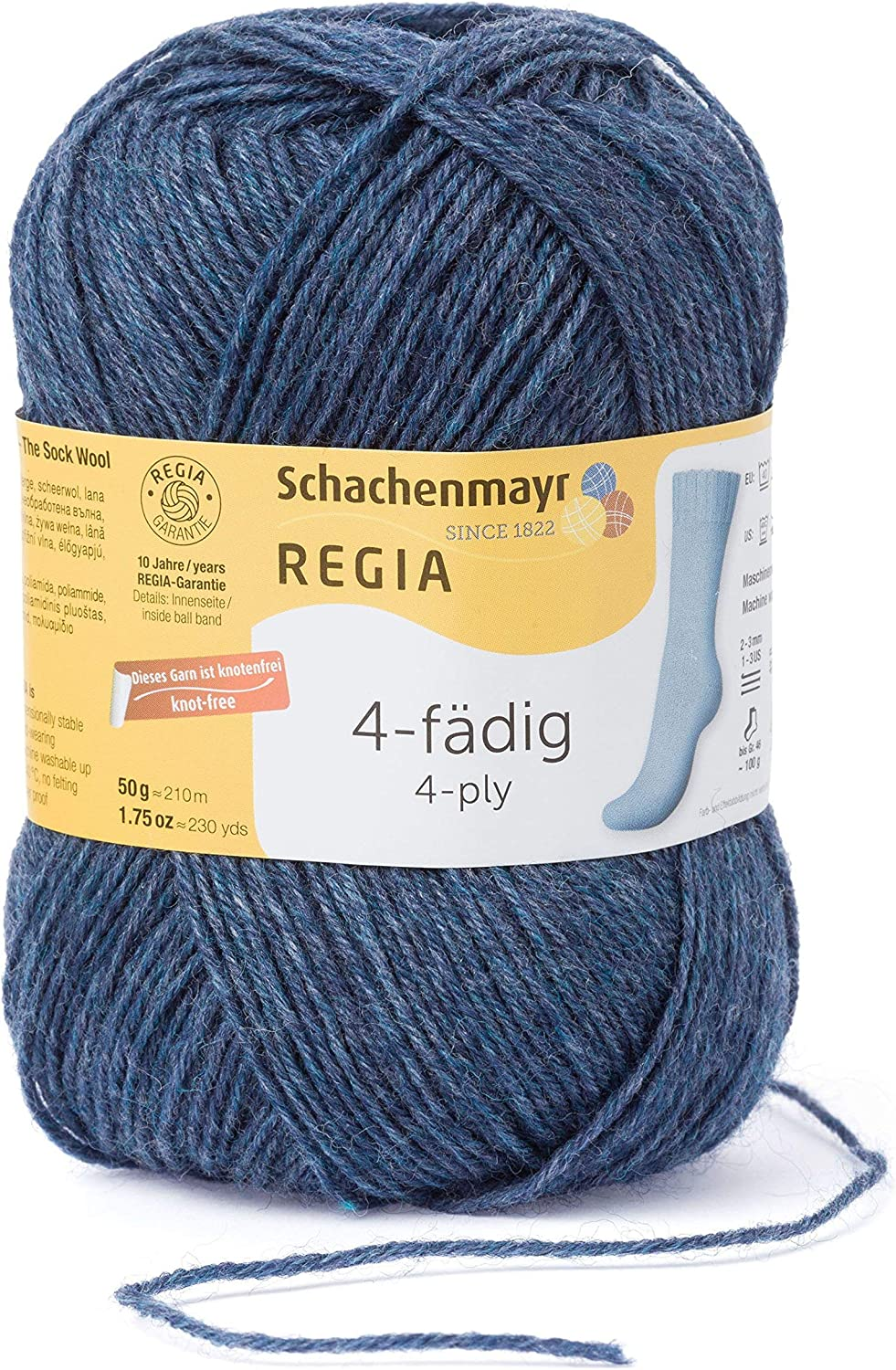 Regia calcetines lana color 6 fädig 50g color 01132 Square Candy