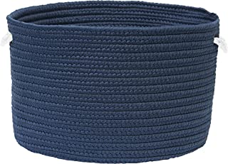 "product image for Colonial Mills Colorful Braided Toy Basket, 12""x12""x8"", Storm Blue"