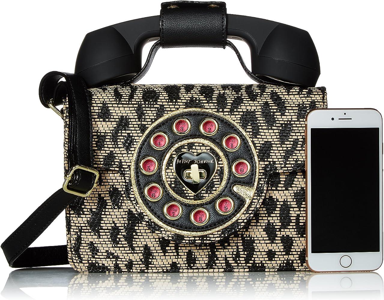 75fd9e02de42 Betsey Johnson Mighty Jungle Leopard Print Phone Bag: Handbags ...