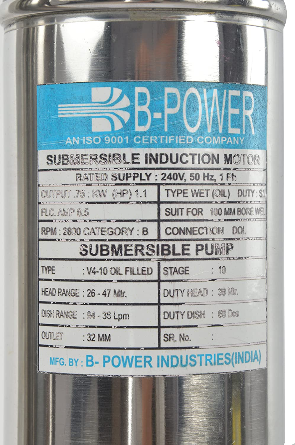 Buy B-Power Submersible Pump 1.5HP Online at Low Prices in India ...