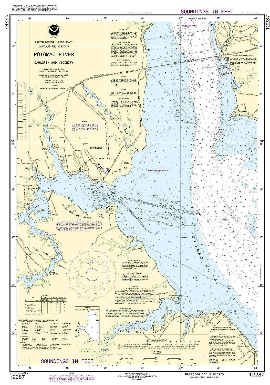 Amazon.com: 12287 -- Potomac River – Dahlgren y alrededores ...