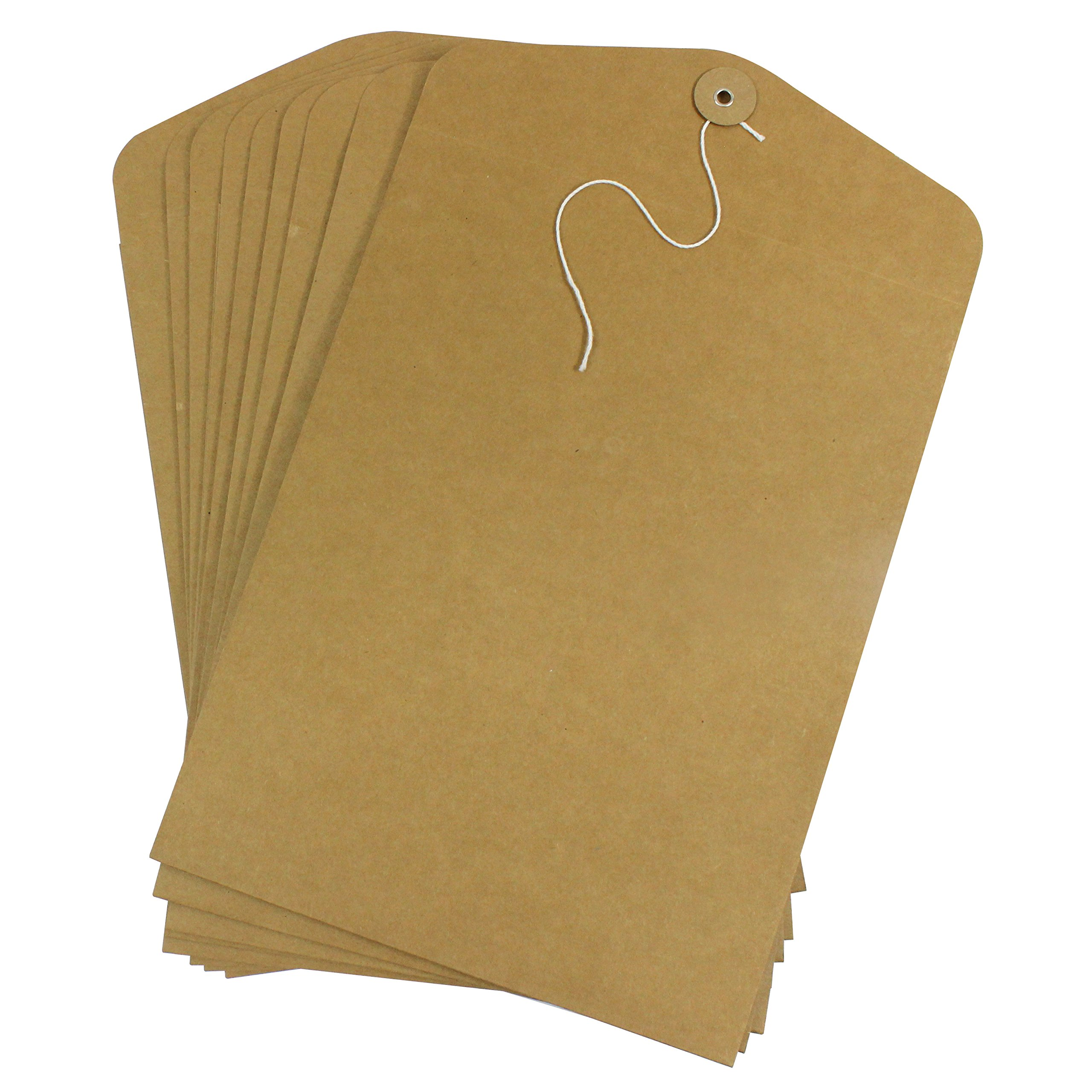 Zoohot 10 Pcs A4 Size Envelopes with String - Kraft Paper File Folders for Offices School Supplies