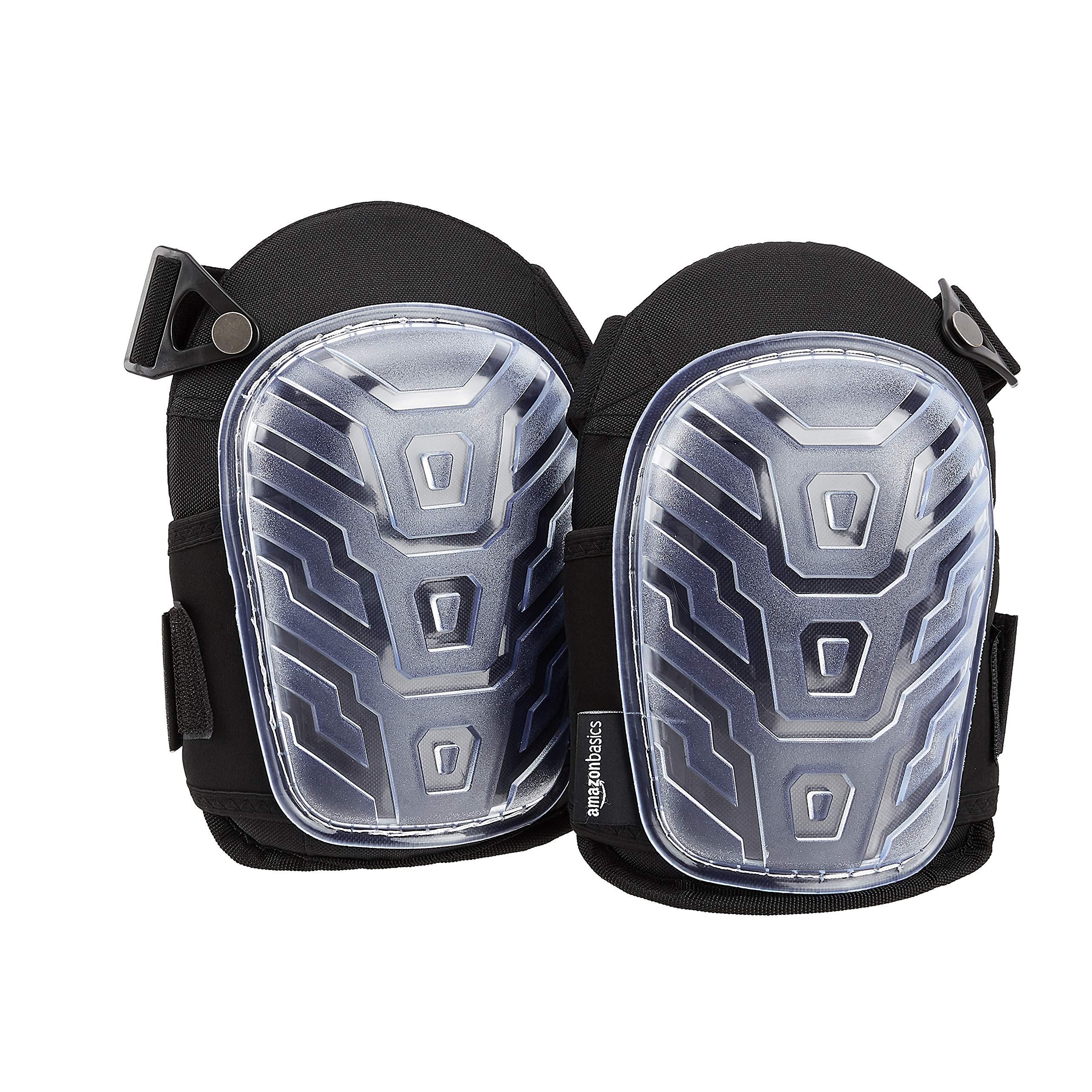 AmazonBasics Professional Gel Cushion Knee Pads,Clear