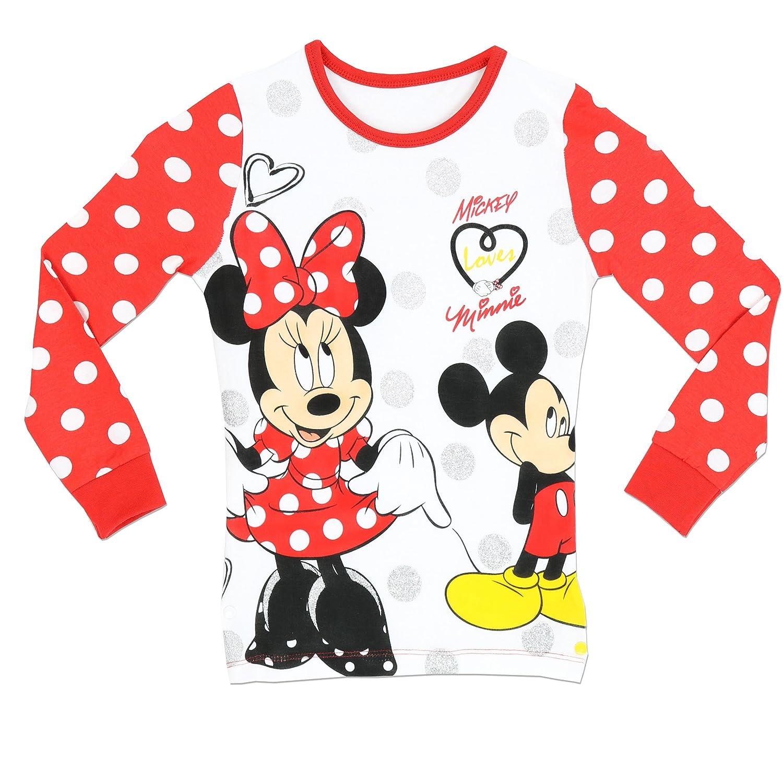 Amazon.com: Disney Girls\' Minnie Mouse Pajamas Mickey Loves Minnie ...