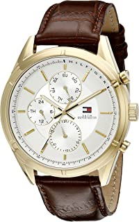e269006ea Tommy Hilfiger Men's 1791127 Sport Lux Gold-Tone Watch with Brown Band
