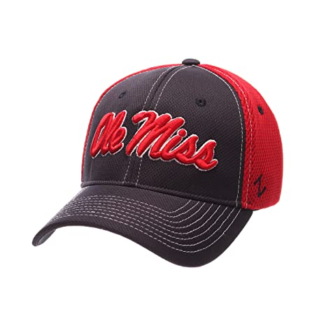 big sale d601d d9c2f Buy NCAA Mississippi Old Miss Rebels Men s Rally Z-Fit Cap, Medium Large,  Navy Red Online at Low Prices in India - Amazon.in