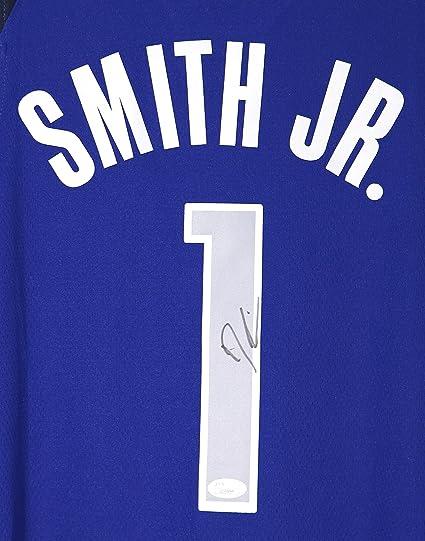 size 40 ad894 cd842 Dennis Smith Jr. Dallas Mavericks Signed Autographed Blue #1 ...