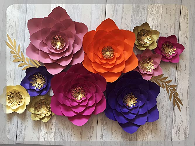 Paper Flower Decorations Large Paper Flowers Wedding Backdrop