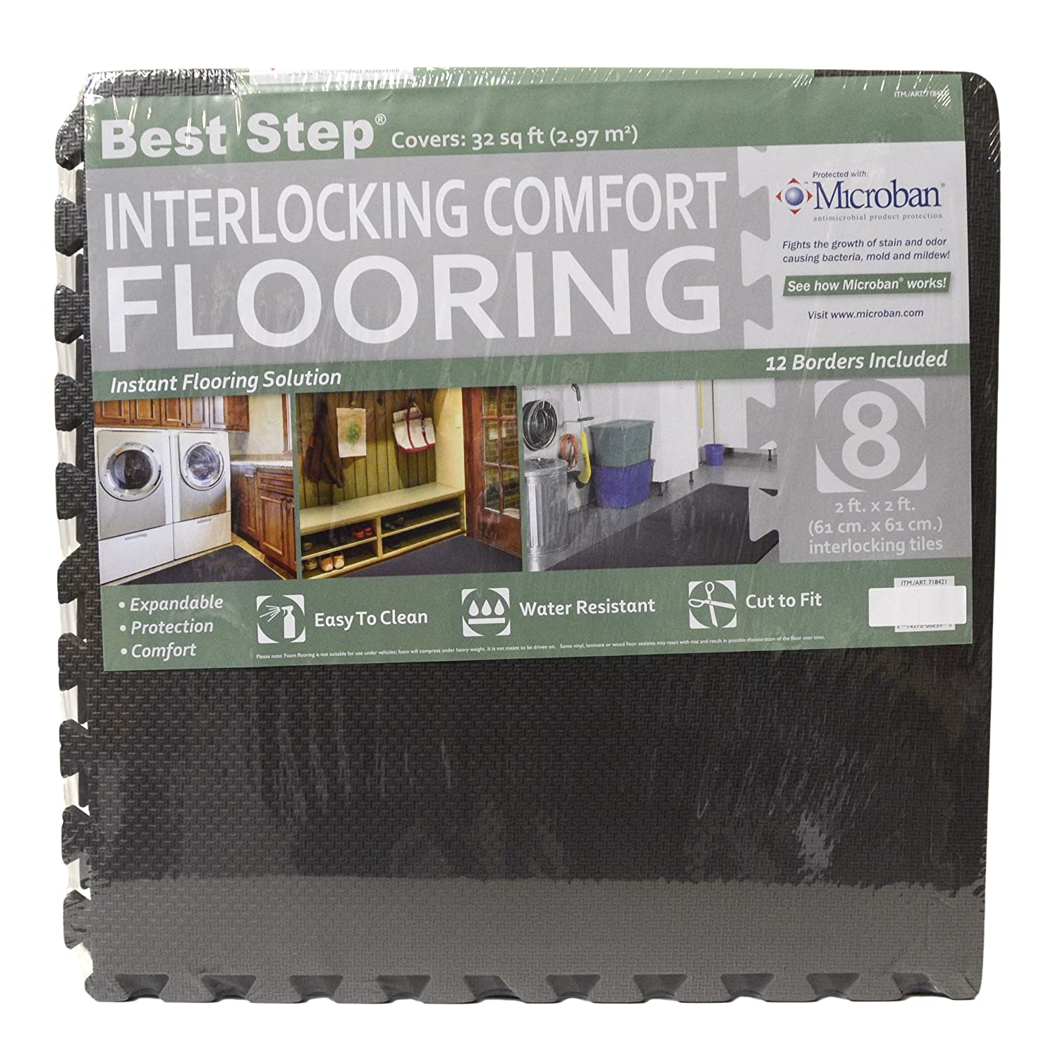 Amazon best step interlocking comfort flooring 8 pack plus amazon best step interlocking comfort flooring 8 pack plus borders 2 x 2 x 38 one pack of 8 tiles 32 sq ft dailygadgetfo Images