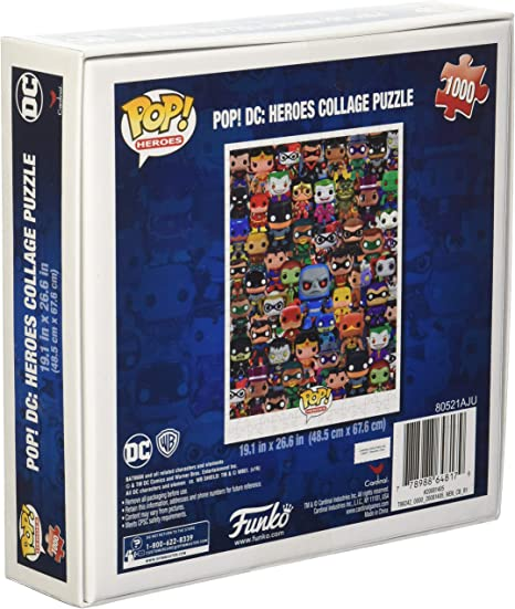 Funko Pop Heroes Dc Comics Pop Heroes Collage Jigsaw Puzzle 1000 Pieces Toys Games