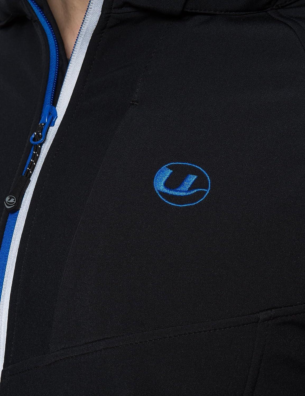 Ultrasport Herren 3-Lagen Softshell Sport-Outdoorjacke Miro mit abnehmbarer Kapuze