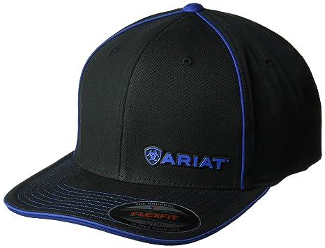 43e068e8321e3 ARIAT Clean Flexfit Cap Black Royal Size L XL R US at Amazon Men s Clothing  store